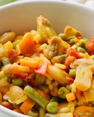 paella vegetariana zoom